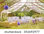the big day   outdoor wedding... | Shutterstock . vector #352692977
