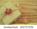 vintage gift box with christmas ... | Shutterstock . vector #352717193