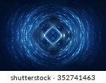 abstract fractal blue... | Shutterstock . vector #352741463