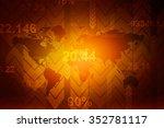 digital world map  ... | Shutterstock . vector #352781117