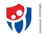 swoosh person logo vector. | Shutterstock .eps vector #352782683