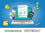 financial report flat design | Shutterstock .eps vector #352785317