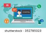 e learning online webinar... | Shutterstock .eps vector #352785323