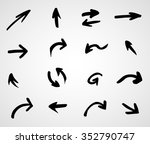 hand drawn arrows  vector set | Shutterstock .eps vector #352790747
