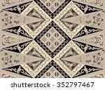 seamless floral beautiful batik ...   Shutterstock . vector #352797467