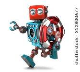 Vintage Robot Run With Lifebuo...