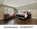 master bedroom in suburban home ... | Shutterstock . vector #352803257