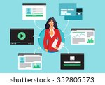 web life of businesswoman from...