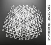 slatted frame made of dice in... | Shutterstock .eps vector #352807283