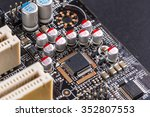 microchips and condensers... | Shutterstock . vector #352807553