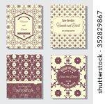set of vintage cards or wedding ...   Shutterstock .eps vector #352829867