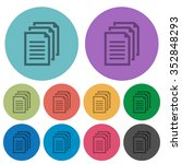 color documents flat icon set...
