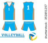 isolated sport uniform and some ...   Shutterstock .eps vector #352851257