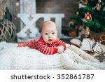 funny little boy on the... | Shutterstock . vector #352861787