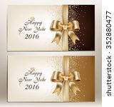 happy new year 2016   floral... | Shutterstock .eps vector #352880477