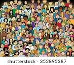 familiar faces | Shutterstock . vector #352895387