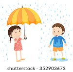 Girl And Boy In The Rain...
