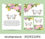 invitation with floral... | Shutterstock . vector #352922393