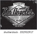 los angeles motorcycle t shirt... | Shutterstock .eps vector #352932917