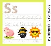 illustrator of s exercise a z... | Shutterstock .eps vector #352936073
