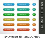 simple vector button set | Shutterstock .eps vector #353007893
