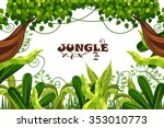 decorative wood. jungle.... | Shutterstock .eps vector #353010773