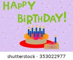 """cake with candles and the words""""... 