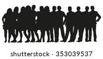 Group Of People Silhouettes