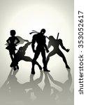 silhouette illustration of... | Shutterstock .eps vector #353052617