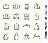 bags line icon set | Shutterstock .eps vector #353064683