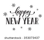 happy new year postcard... | Shutterstock .eps vector #353073437