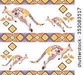 Seamless Kangaroo Pattern Made...