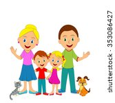happy young family ... | Shutterstock .eps vector #353086427
