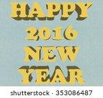 new year postcard | Shutterstock . vector #353086487