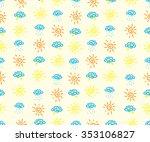cute hand drawn seamless...   Shutterstock .eps vector #353106827