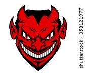 devil face | Shutterstock .eps vector #353121977