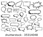 sketchy speech bubbles | Shutterstock .eps vector #35314048