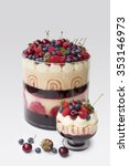 trifle dessert with layers of... | Shutterstock . vector #353146973