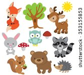 forest animal vector... | Shutterstock .eps vector #353155853