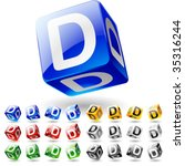 glossy alphabet on a cubes....   Shutterstock .eps vector #35316244