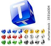 glossy alphabet on a cubes....   Shutterstock .eps vector #35316304