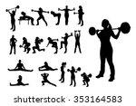 illlustration of female... | Shutterstock .eps vector #353164583