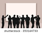 illustration of set of people... | Shutterstock .eps vector #353164733