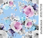 seamless pattern watercolor... | Shutterstock . vector #353170733