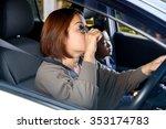 asian woman make up during... | Shutterstock . vector #353174783