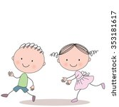 Illustration Of Running Little...
