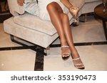 perfect female legs wearing... | Shutterstock . vector #353190473