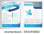 vector brochure flyer design... | Shutterstock .eps vector #353193803