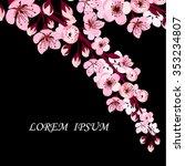 background sakura. vector   Shutterstock .eps vector #353234807