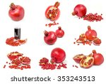 collage of pomegranates... | Shutterstock . vector #353243513